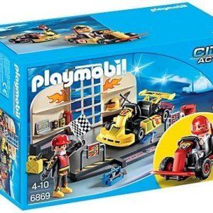 Playmobil StarterSet Go kart -varikko