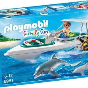 Playmobil Sukellusretki moottoriveneellä