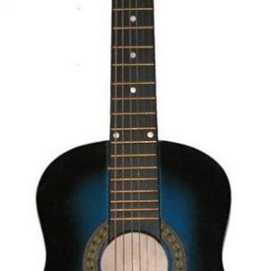Puinen kitara Kuusikielinen Sininen 80 cm