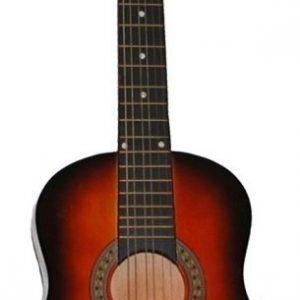 Puinen kitara Kuusikielinen Sunburst 80 cm