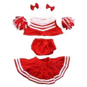Punainen cheerleader-puku 40 cm