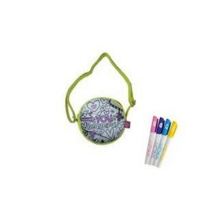 Pyöreä väritettävä laukku