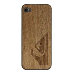 Quiksilver iPhone 4/4S vaaleanruskea puukuori