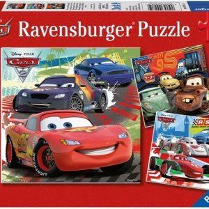 Ravensburger Palapeli Disney Pixar Cars Worldwide Racing Fun 3 x 49 palaa