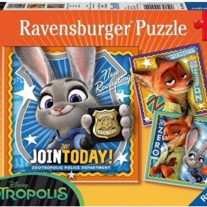 Ravensburger Palapeli Disney Zootropolis 3 x 49 palaa