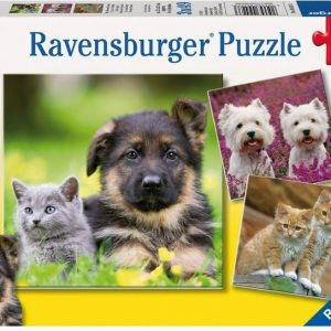 Ravensburger Palapeli Koitat & Kissat 3 x 49 palaa