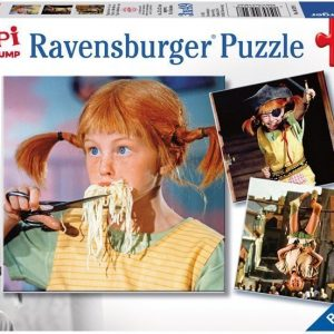Ravensburger Palapeli Peppi Pitkätossu 3 x 49 palaa