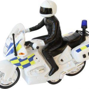 SOS Poliisimoottoripyörä jossa ääni ja valo 15 cm