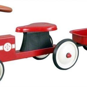 STOY Speed Traktori peräkärryllä Punainen