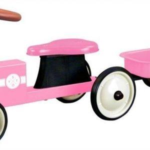 STOY Speed Traktori peräkärryllä Vaaleanpunainen