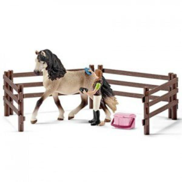 Schleich Hevosen hoitosetti ja Andalusian hevonen