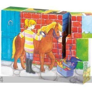Sg Puiset Palapelikuutiot Hevoset