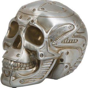 Silver Skull Moneybank