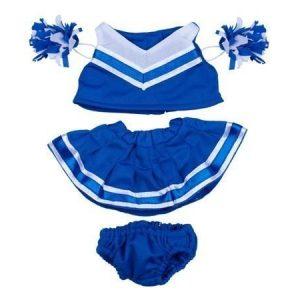 Sininen cheerleader-puku 40 cm