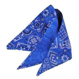 Sininen jenkkihuivi 40 cm