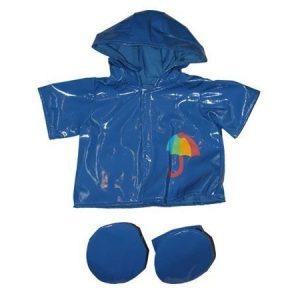 Sininen sadetakki ja tassunsuojat 40 cm