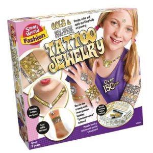 Small World Fashion Kulta ja hopea tatuointisetti