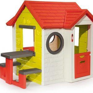 Smoby Leikkitalo My House piknikpöydällä
