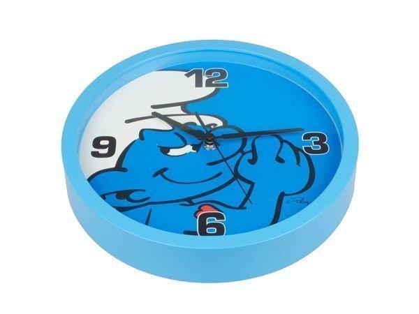 Smurffit seinäkello sininen 25 cm