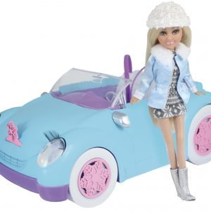 Sparkle Girlz Sininen Avoauto Ja Nukke