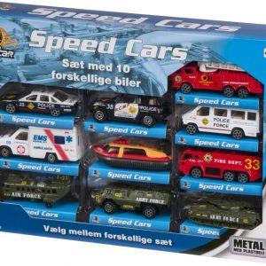 Speed Set Autot 10 kpl Pelastuspalvelu & poliisi