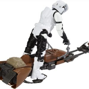 Star Wars E7 Hero Series Figure & Vehicle Biker Scout & Speeder Bike