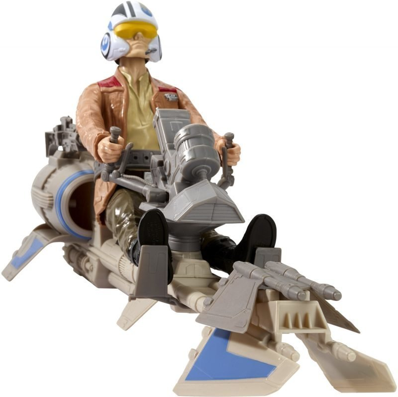 Star Wars E7 Hero Series Figure & Vehicle Speeder Bike