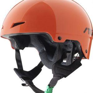 Stiga Kypärä Play Helmet vihreällä soljella Oranssi
