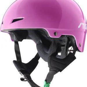 Stiga Kypärä Play Helmet vihreällä soljella Vaaleanpunainen