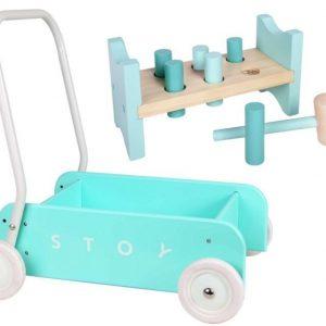 Stoy Baby Taaperokärry + Hakka Mintunvihreä Paketti