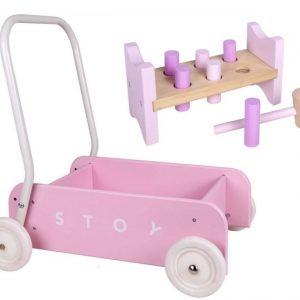 Stoy Baby Taaperokärry + Hakka Vaaleanpunainen Paketti