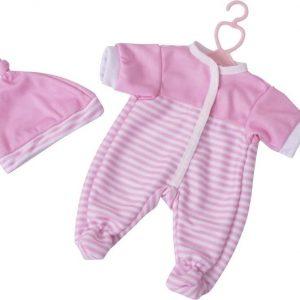 Stoy Dolls Nukenvaatteet Potkupuku ja myssy Vaaleanpunainen 30 cm