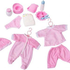 Stoy Dolls Nukenvaatteet + Potta varusteilla Vaaleanpunainen Paketti
