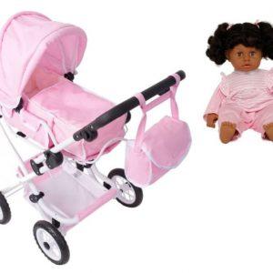 Stoy Dolls Nukenvaunut + Nukke 40 cm Vaaleanpunainen Paketti