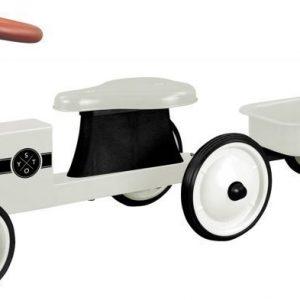 Stoy Speed Traktori peräkärryllä Valkoinen
