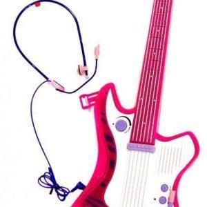 Supersonic Kitara ja kuulokkeet/mikrofoni Pinkki/valkoinen/liila