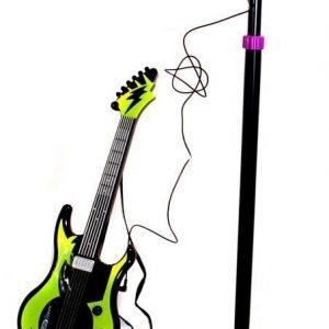 Supersonic Kitara ja mikrofoni sekä teline Vihreä/musta