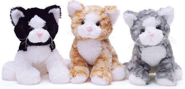 Teddykompaniet Kissa Harmaa/Valkoinen