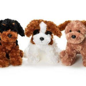 Teddykompaniet Koira Ruskea/Valkoinen