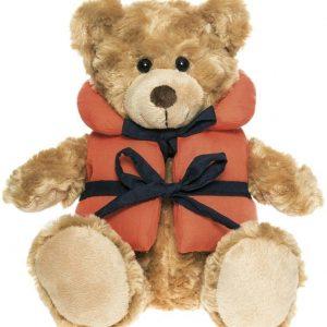 Teddykompaniet Pehmoeläin Nalle Vince pelastusliivissä