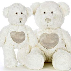 Teddykompaniet Teddy Cream Nalle Valkoinen