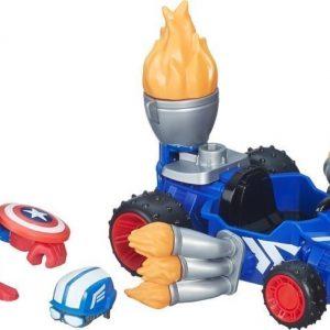 The Avengers Super Hero Mashers Micro Figure & Vehicle Captain America Racer