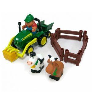 Tomy John Deere Setti: Traktori Ja Eläimet