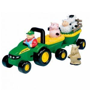 Tomy John Deere Traktori Ja Perävaunu