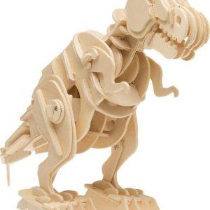 Träpussel T-Rex med motor