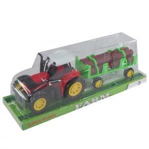 Traktori Tukkikuormalla