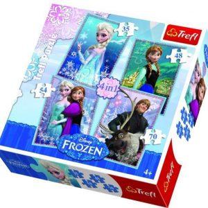 Trefl Disney Frozen Palapeli 4-in-1