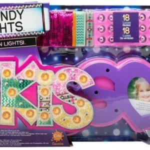 Trendy Lights Koristeltava valokuvakehys Kiss