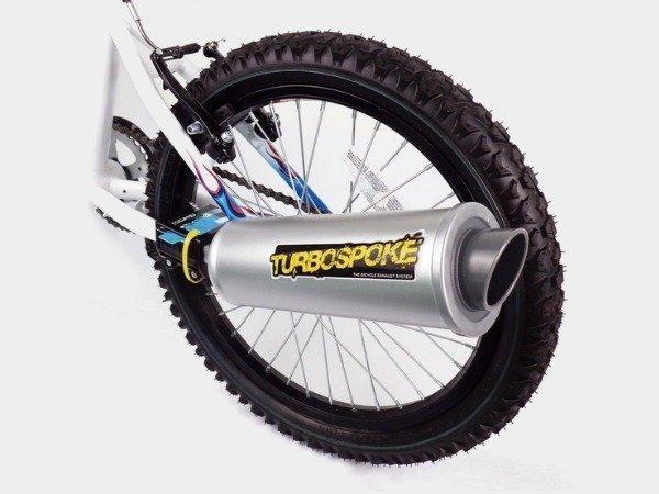 Turbobuusti polkupyörän pakoputki