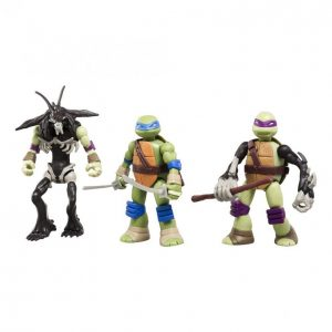 Turtles Mutations Leonardo Slash Ja Donatello Hahmo 12 Cm 3 Kpl
